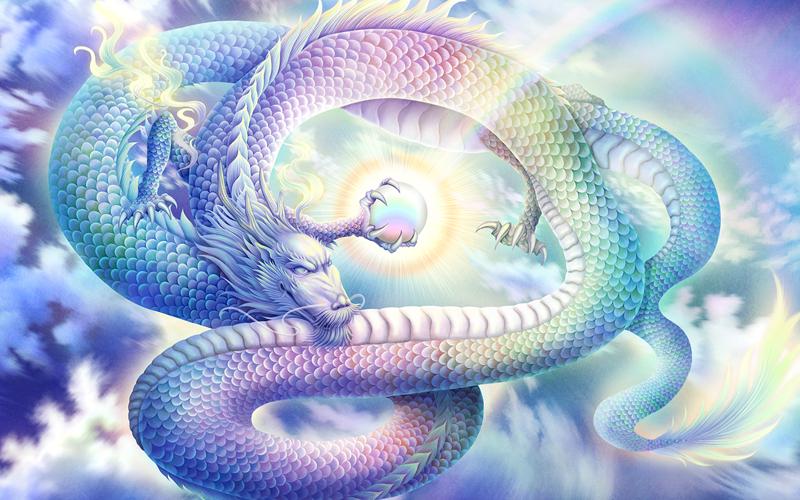 >癒しの現代仏画と龍神画