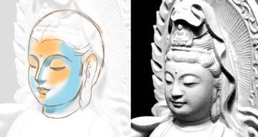 【仏画教室】~仏様の描き方~基本の顔の形を徹底解析~