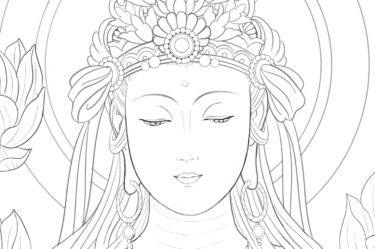 初心者でも分かる仏画の描き方~2・目など顔の各パーツの説明