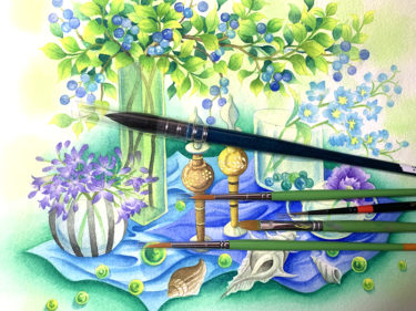 水彩画におすすめの筆・初心者に使いやすい筆はこの4つ